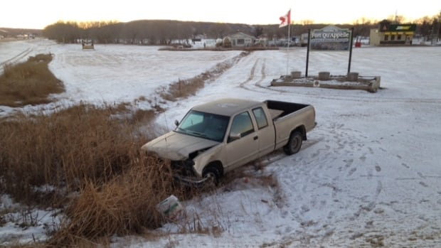A 20-year-old man is facing charges after fleeing a collision in Fort Qu'Appelle, Sask., on New Year's Day.