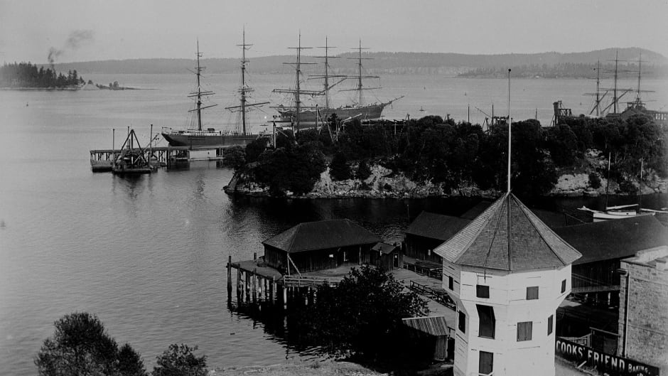 Nanaimo Harbour, British Columbia ca.1906.