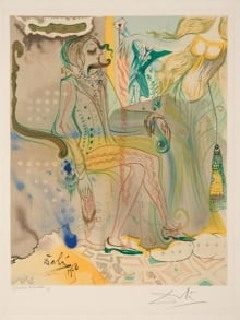 Salvador Dali-Dumontet Marton-Colour Lithograph-