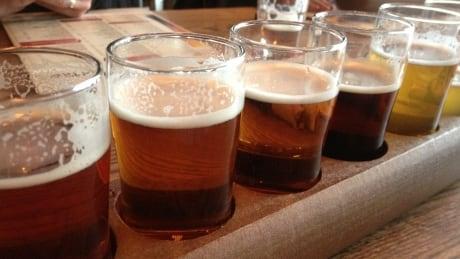 B.C. craft beer flight