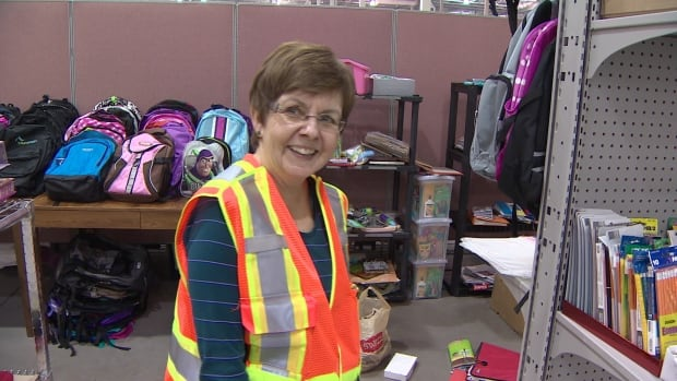 Marilyn Price volunteered seven times. The retired teacher helped organize all the school supplies.