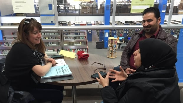 Volunteer tutors meet up with newcomers and refugees for about two hours per week to help teach them English through Regina Public Library.