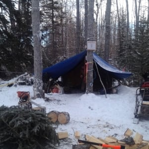 Site C protest camp tent