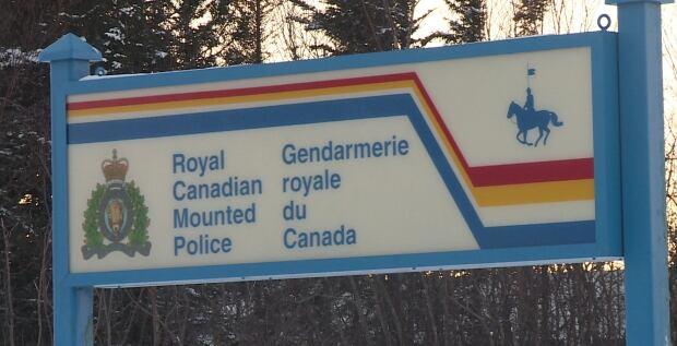 RCMP sign, Gander