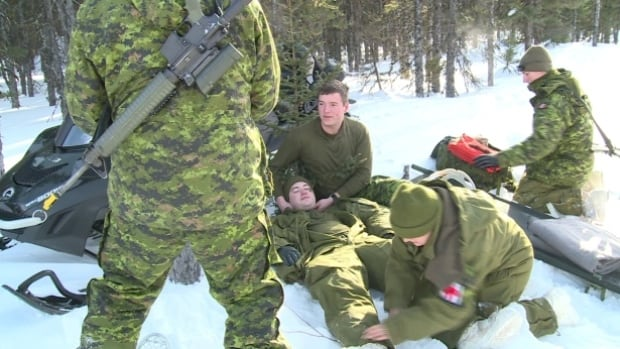 Soldiers from Base Gagetown are in Bathurst for the next ten days taking part in arctic military training as they prepare for further training, shown here, in Happy Valley Goose Bay.