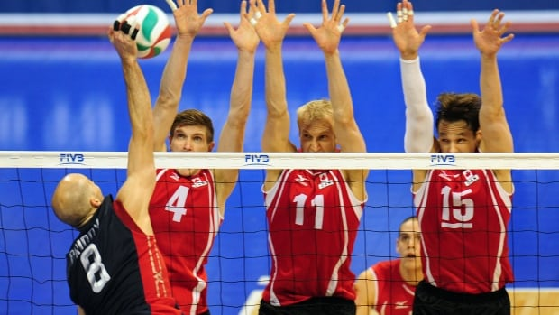 """It would mean a lot to be the first team in a long time to qualify,"" said Team Canada captain Fred Winters pictured far right alongside Steve Brinkman (middle) and Joshua Howatson (left) at the 2012 NORCECA continental Olympic qualifier."