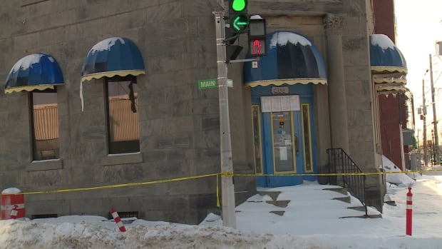 The Bank of Montreal building in Bathurst was destroyed by fire in late November.