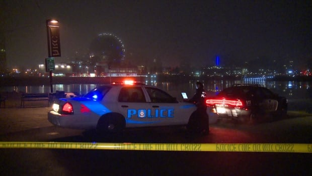 Police closed off part of the Vancouver Seawall late Wednesday night, after a cyclist was found unconscious near the foot of Carrall Street. He later died in hospital.