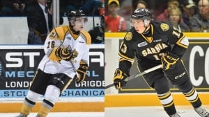 Chase Campbell and Sasha Chmelevski, traded to Ottawa 67s