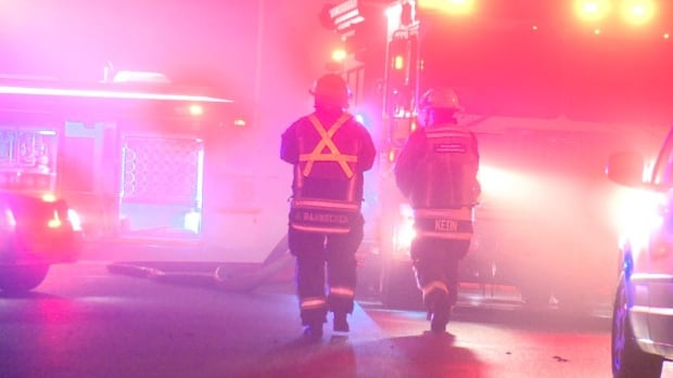 Firefighters were at the scene of an industrial fire in Surrey on Thursday morning.