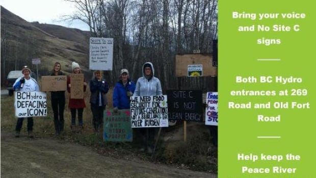 An online posting advertising the Jan. 6  'Say NO to Site C' protest at which Hadland was arrested.