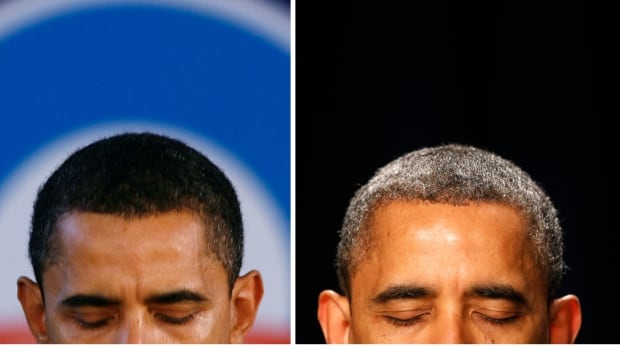Photos from 2007 and 2013 show U.S. President Barack Obama's hair has become visibly greyer since he was first sworn into office on January 20, 2009. Researchers have now identified the gene for greying hair, but say stress and traumatic events also play a role.