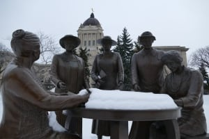 Famous Five statue, Manitoba legislature