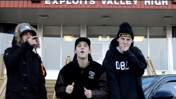 One of the things Exploits Valley High said violated its social media policy was that the video was partially shot in front of the school.