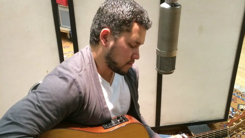 Don Amero performs in the Unreserved studio.
