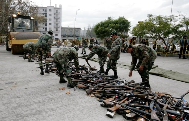 URUGUAY has a lot of guns for South America