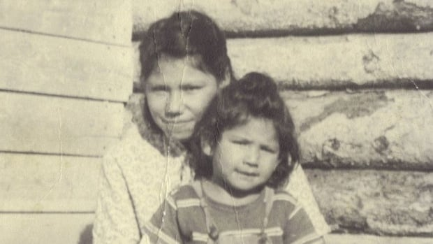 Freda Cardinal (front) with her older sister Stella. Stella disappeared in 1970 at the age of 19.
