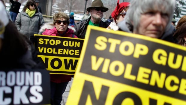 Gun safety advocates held a rally in April, 2013, in Denver, Colorado. The U.S. Centers for Disease Control and Prevention currently avoids research on how to reduce gun violence and President Barack Obama and others are calling on it to resume the work, which was stopped in the 1990s after Congress cut funding.