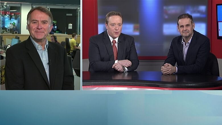 CBC News: Compass Political Panel Rick MacLean And Paul MacNeill With Host  Bruce Rainnie. (CBC)