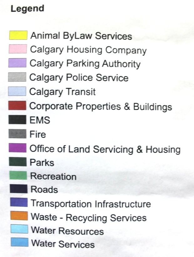 City of Calgary Ownership map