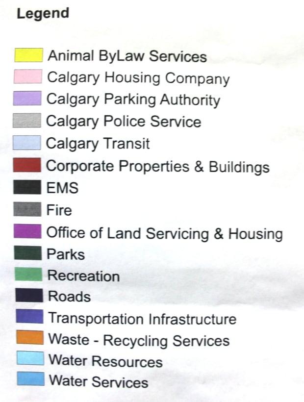 City of Calgary Ownership map