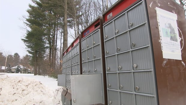 The locks were broken and parcels were stolen from these community mailboxes on Cambridge Street in Hudson.