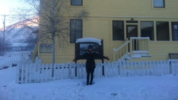 Louise Burns hangs out at her new digs in snowy Dawson City, Yukon. Burns is spending the month of January in Dawson City to be songwriter-in-residence at the Dawson City Music Festival.