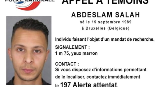 This undated file photo released Friday, Nov. 13, 2015, by French Police shows 26-year old Salah Abdeslam, who is wanted by police in connection with the Paris attacks.