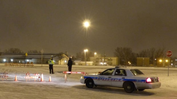 Victoria Avenue was closed near the Ring Road Friday morning after a pedestrian was struck by a vehicle and died.