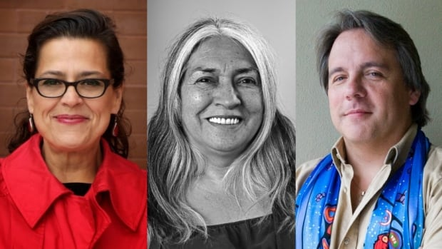 """Tracey Lindberg, author of """"Birdie,"""" Lee Maracle's new book is called """"Memory Serves,"""" and Drew Hayden Taylor is the author of """"The Best of...  Funny You Don't Look Like One."""""""