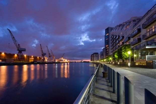 Glasgow Harbour in Scotland is ten years into a major redevelopment.
