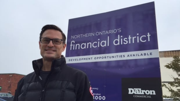 John Arnold from Dalron is hoping to brand the corner of Durham and Cedar in downtown Sudbury as Northern Ontario's financial district.