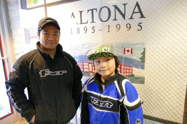 Filipino dad and his son