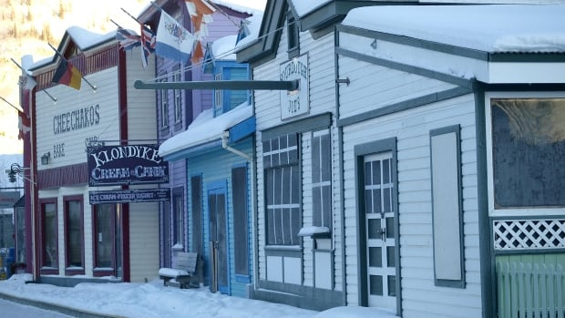 Front Street in Dawson's historic district. The Klondike region is one step closer to being named a UNESCO World Heritage site.