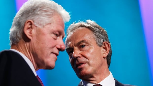 Transcripts of conversations between Bill Clinton and Tony Blair released on Friday give a rare, and at times very personal, glimpse into the lives of the two politicians during the time they were in power. Here they share a moment at the Clinton Global Initiative in New York in 2010.