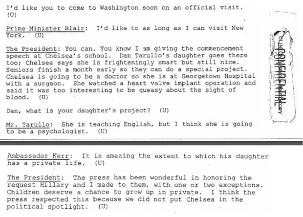 Clinton-Blair talk kids on May 29 1997