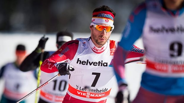Canadian Alex Harvey, seen above in a previous stage, finished 14th overall in the Tour de Ski with a 16th place finish Sunday in the final stage.
