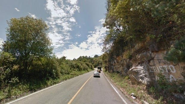 A road near the town of Oxchuc in Mexico's Chiapas province.