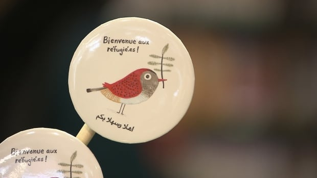 The buttons have been distributed all over Quebec and even in other parts of the world.