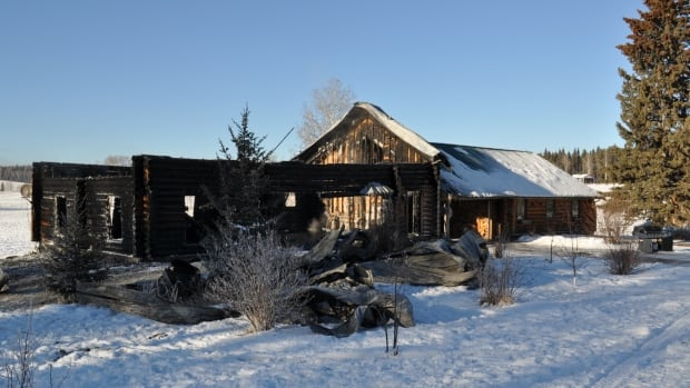 The Sundre-area home that was set on fire on January 7.