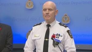 Vancouver Police Chief Constable Adam Palmer