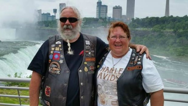 Jeff and Jeri Hamilton were wearing these vests when they were in a horrible motorcycle accident in Wyoming last August.