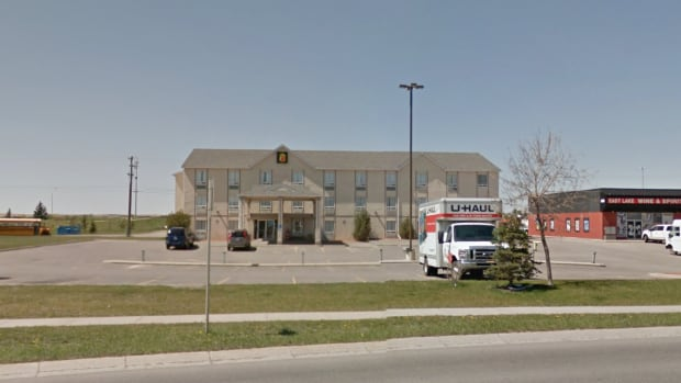The Airdrie Super 8 Motel was held up at about 6 p.m. New Year's Day.