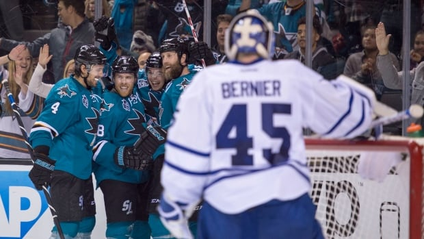 It was a night to forget for Leafs goal tender Jonathan Bernier.