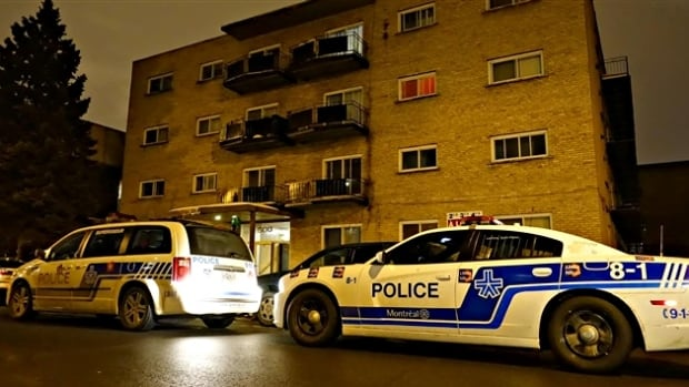 Montreal police are investigating a home invasion in Lachine and are still searching for the suspect.