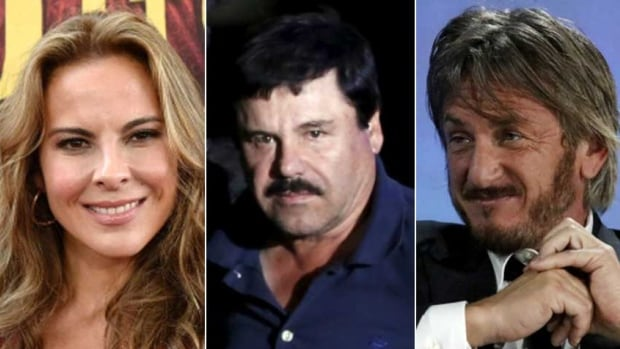 Mexican drug lord Joaquin (El Chapo) Guzman (centre) met with U.S. actor Sean Penn (right) and Mexican actress Kate del Castillo (left) in his hideout in Mexico months before his recapture by Mexican marines in his home state of Sinaloa, according to Rolling Stone magazine.