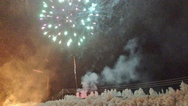 Fireworks during the Inuvik Sunrise Festival in January 2016. Out of 150 trips to N.W.T. being given away by N.W.T. Tourism, only five trips for two will visit a region other than Yellowknife.
