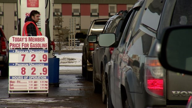 Gas was selling in Edmonton at about 88.9 cents a litre in mid-December.
