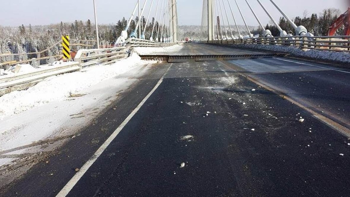 Cross-Canada route severed after Northern Ontario bridge splits apart