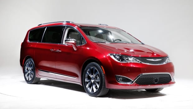 This Friday, Jan. 8, 2016, photo, shows the 2017 Chrysler Pacifica, in Auburn Hills, Mich.